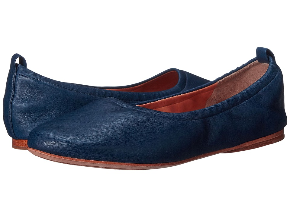 Sigerson Morrison Aylana Cobalt Leather Womens Flat Shoes