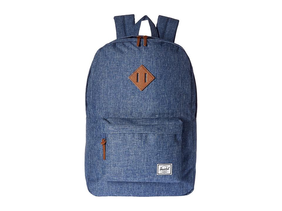 Herschel Supply Co. Heritage (Limoges Crosshatch/Tan Leather) Backpack Bags