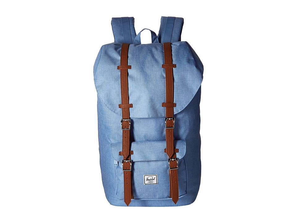 Herschel Supply Co. - Little America (Chambray Crosshatch/Tan Synthetic Leather) Backpack Bags