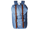 Herschel Supply Co. Little America (Chambray Crosshatch/Tan Synthetic Leather)