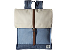 Herschel Supply Co. City (Chambray Crosshatch/Limoges Crosshatch/Natural/Tan Synthetic Lea)