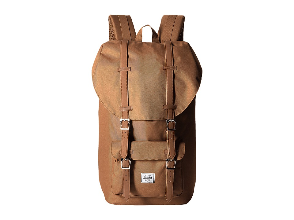 Herschel Supply Co. - Little America (Caramel/Tan Synthetic Leather) Backpack Bags