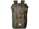 Herschel Supply Co. Little America (Deep Litchen Green/Tan Synthetic Leather)