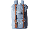 Herschel Supply Co. Little America Mid-Volume (Chambray Crosshatch/Tan Synthetic Leather)