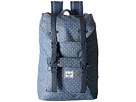 Herschel Supply Co. Little America Mid-Volume (Limoges Crosshatch/White Polka Dot/Navy Synthetic Leather)