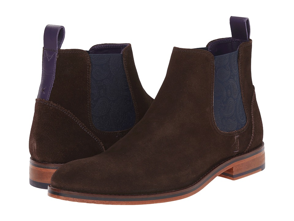 Ted Baker - Camroon 4 (Dark Brown Suede) Mens Pull-on Boots