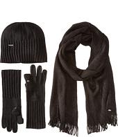 Calvin Klein - 3 Piece Set-Hat, Scarf, Flip Tip Glove