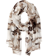 Calvin Klein - Smoke Print Poly Chiffon Scarf