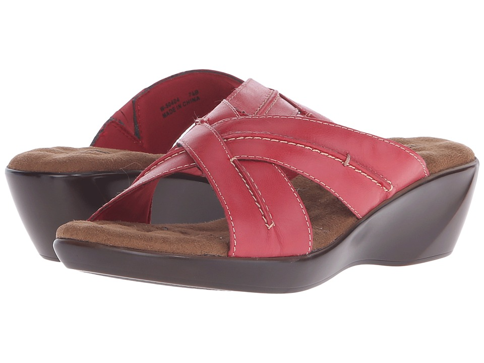 Walking Cradles Chase Red Burnished Leather Womens Slide Shoes