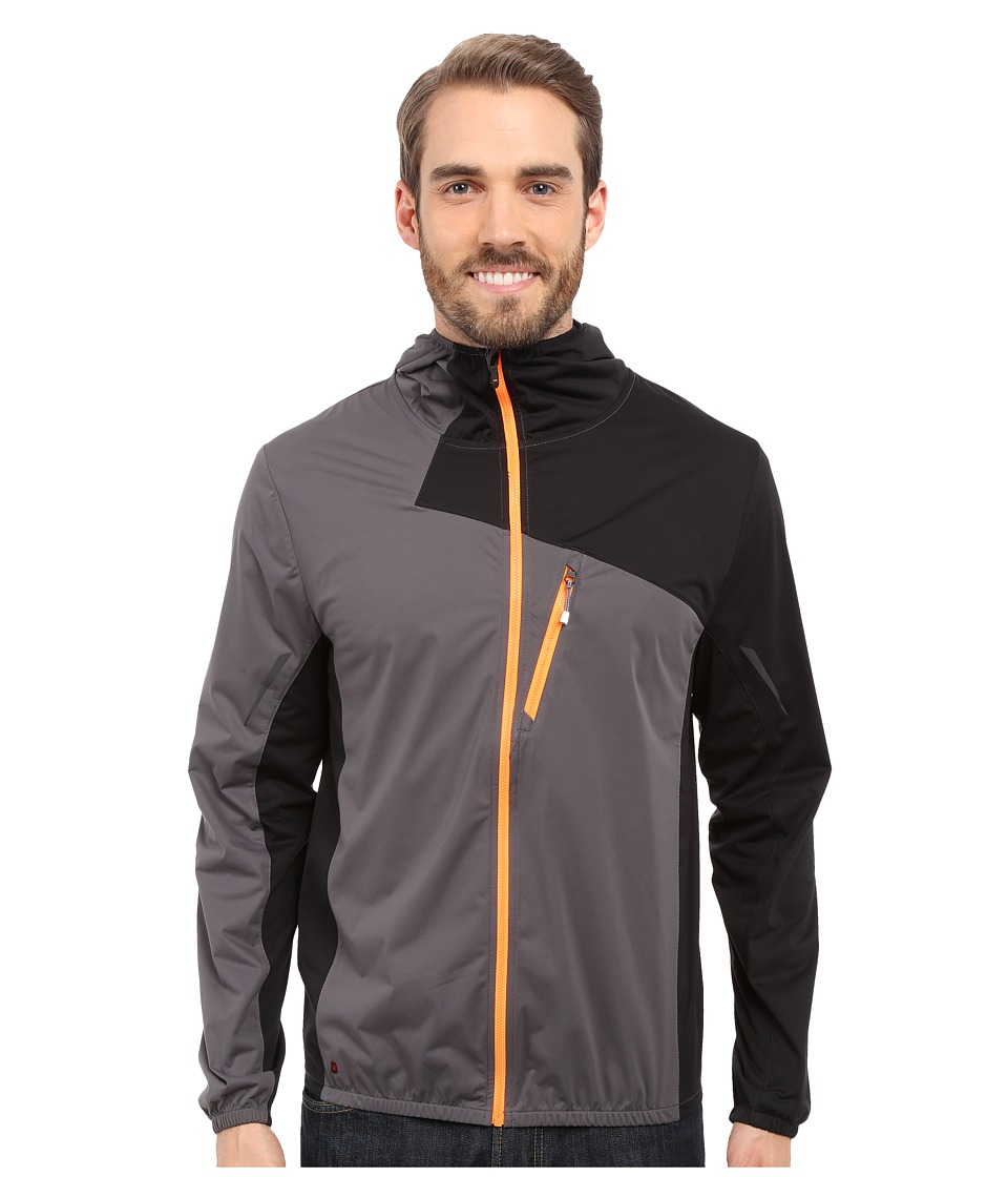 Spyder - Thasos Windbreaker Shell Jacket (Polar/Black/Bright Orange) Men's Coat