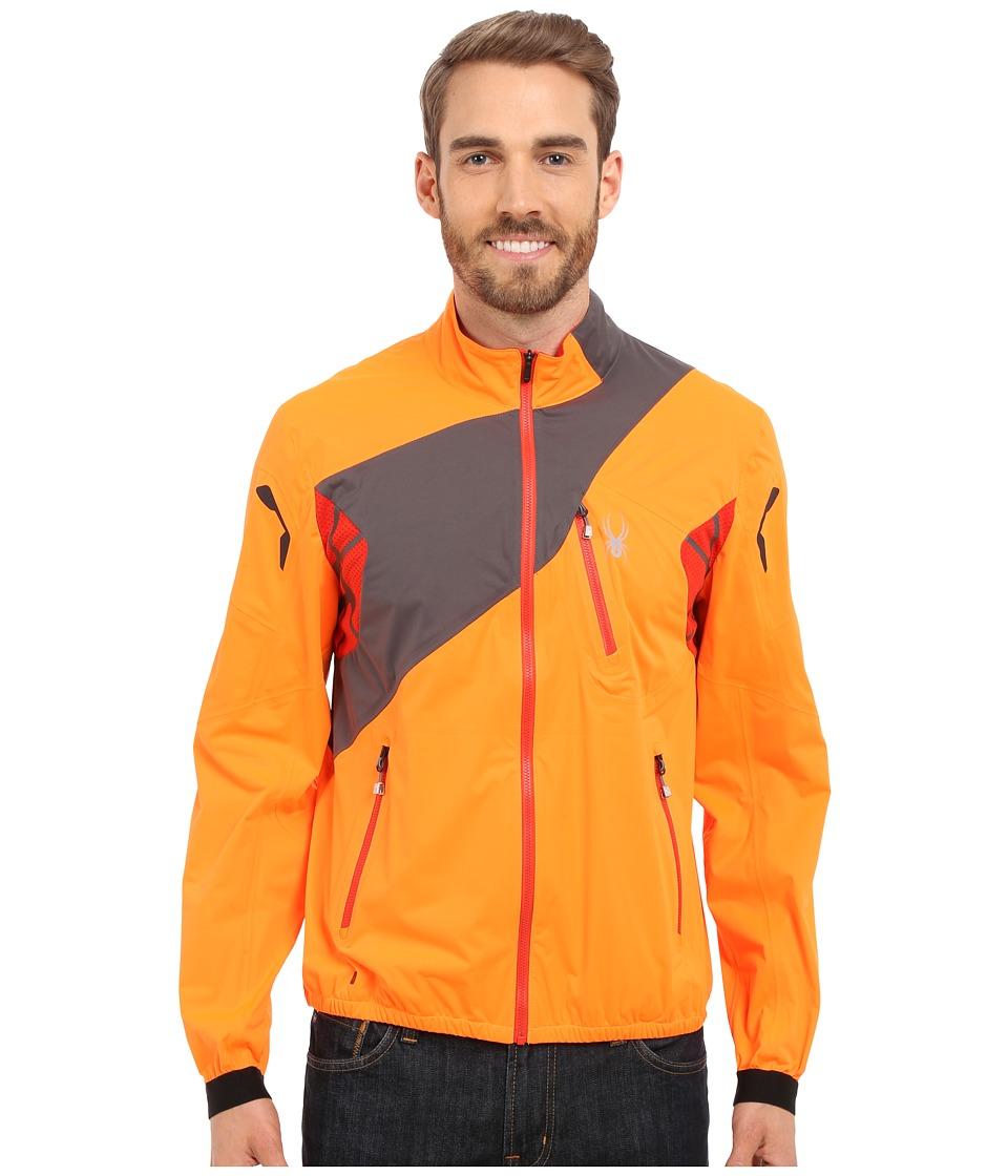 Spyder Aramis Windbreaker Shell Jacket Bright Orange/Polar/Volcano Mens Coat
