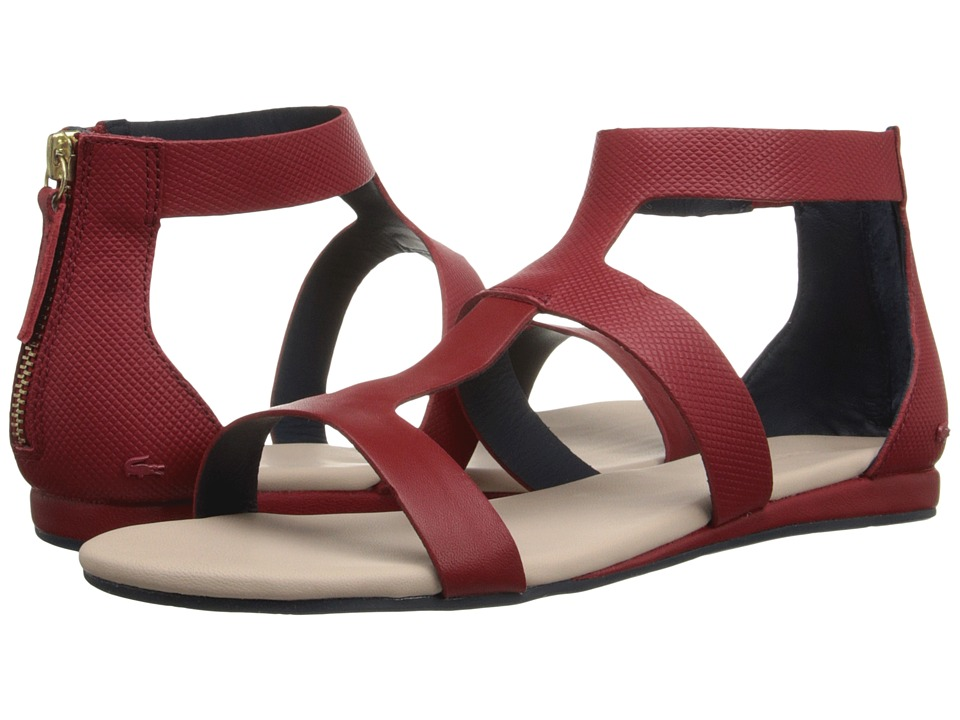 Lacoste Atalaye Dark Red Womens Sandals