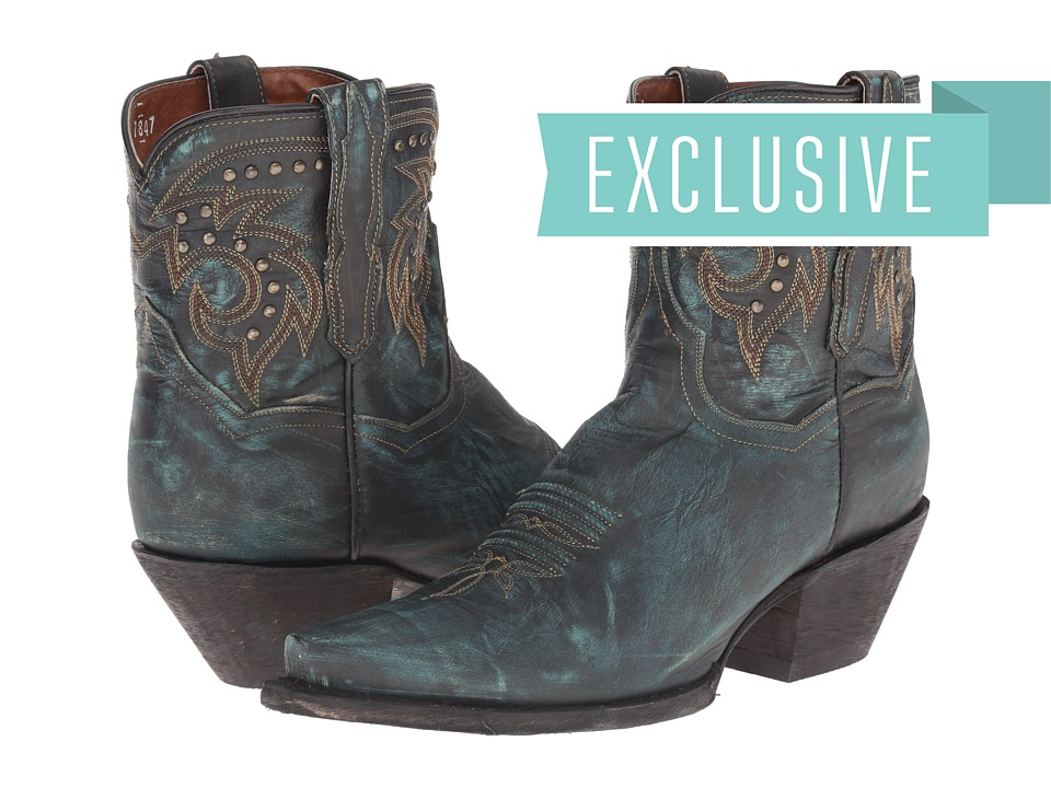 Dan Post - Flat Iron (Aged Turquoise) Cowboy Boots