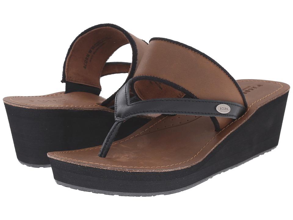 Acorn ArtWalk Leather Wedge (Mocha) Women