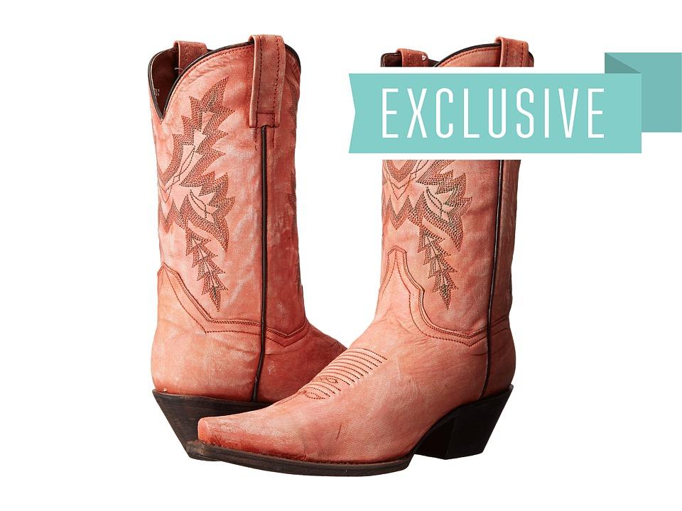 Dan Post Gina (Coral Sanded) Cowboy Boots