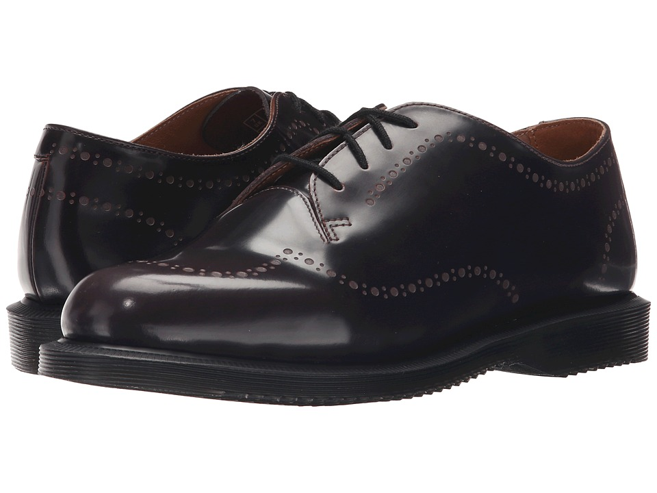 Dr. Martens Charlotte Etched Brogue Shoe Cherry Red Arcadia Womens Lace up casual Shoes