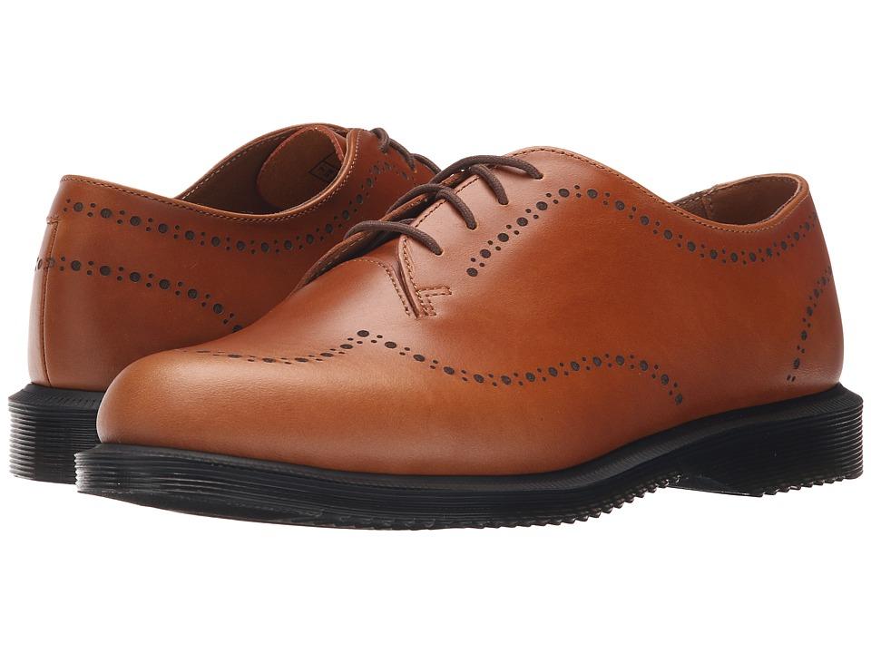 Dr. Martens Charlotte Etched Brogue Shoe Oak Analine Womens Lace up casual Shoes
