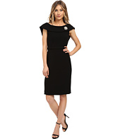 Tahari by ASL - Crepe Sheath with Bow Back