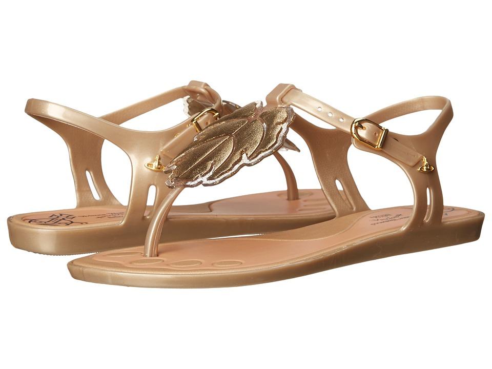 Vivienne Westwood - Anglomania + Melissa Solar Sandal (Gold/Glitter) Women