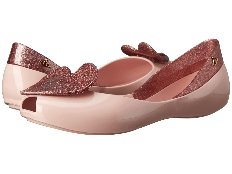 Vivienne Westwood Anglomania + Melissa Queen (Pale Pink/Pink Glitter) Women