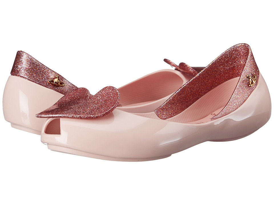 Vivienne Westwood - Anglomania + Melissa Queen (Little Kid/Big Kid) (Pale Pink/Pink Glitter) Women