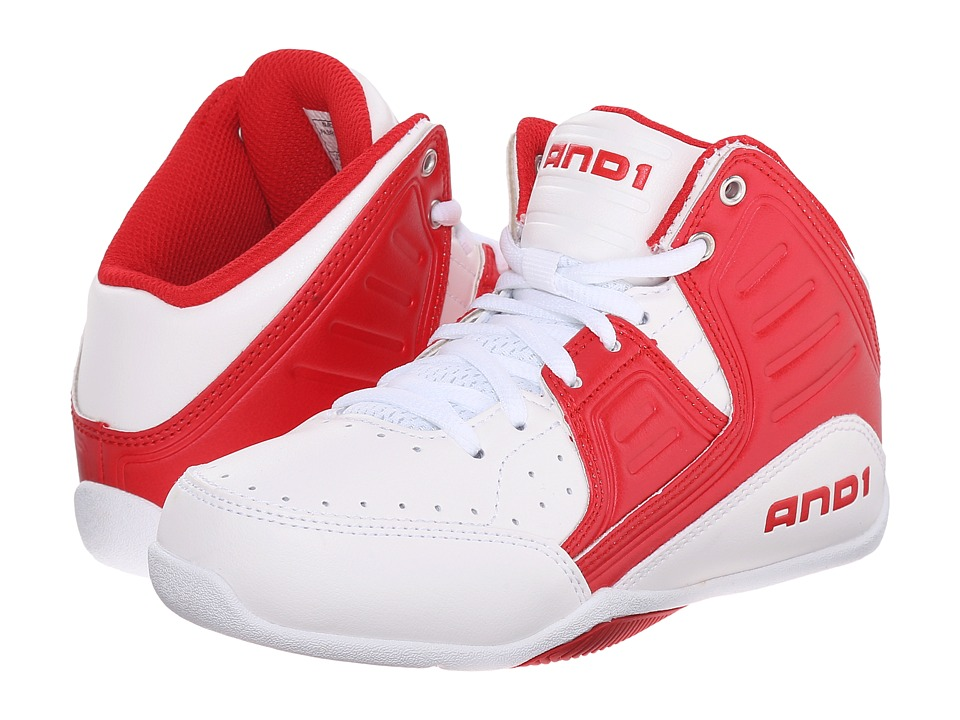 AND1 Kids Rocket 4 Little Kid/Big Kid Bright White/Red/Bright White Boys Shoes