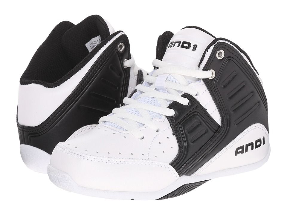 AND1 Kids Rocket 4 Little Kid/Big Kid Bright White/Stretch Limo/Bright White Boys Shoes