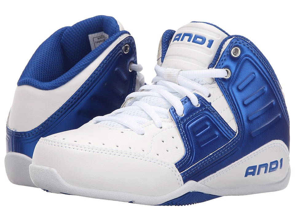 AND1 Kids Rocket 4 (Little Kid/Big Kid) (Bright White/Royal/Bright White) Boys Shoes
