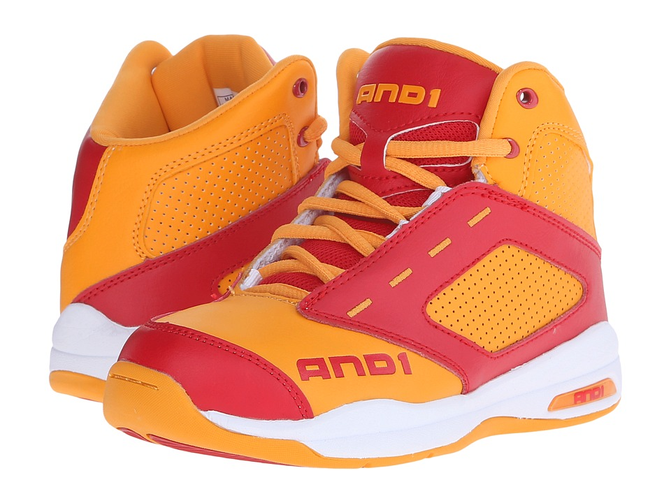AND1 Kids Typhoon Little Kid/Big Kid Saffron/Red/Bright White Boys Shoes