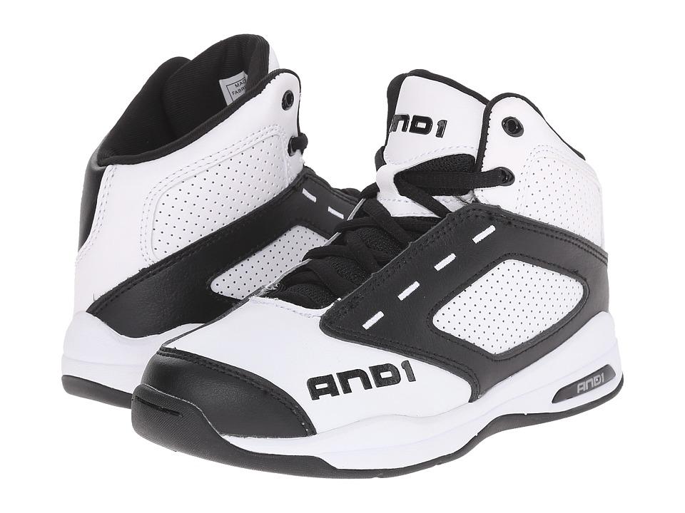 AND1 Kids Typhoon Little Kid/Big Kid White/Black/White Boys Shoes