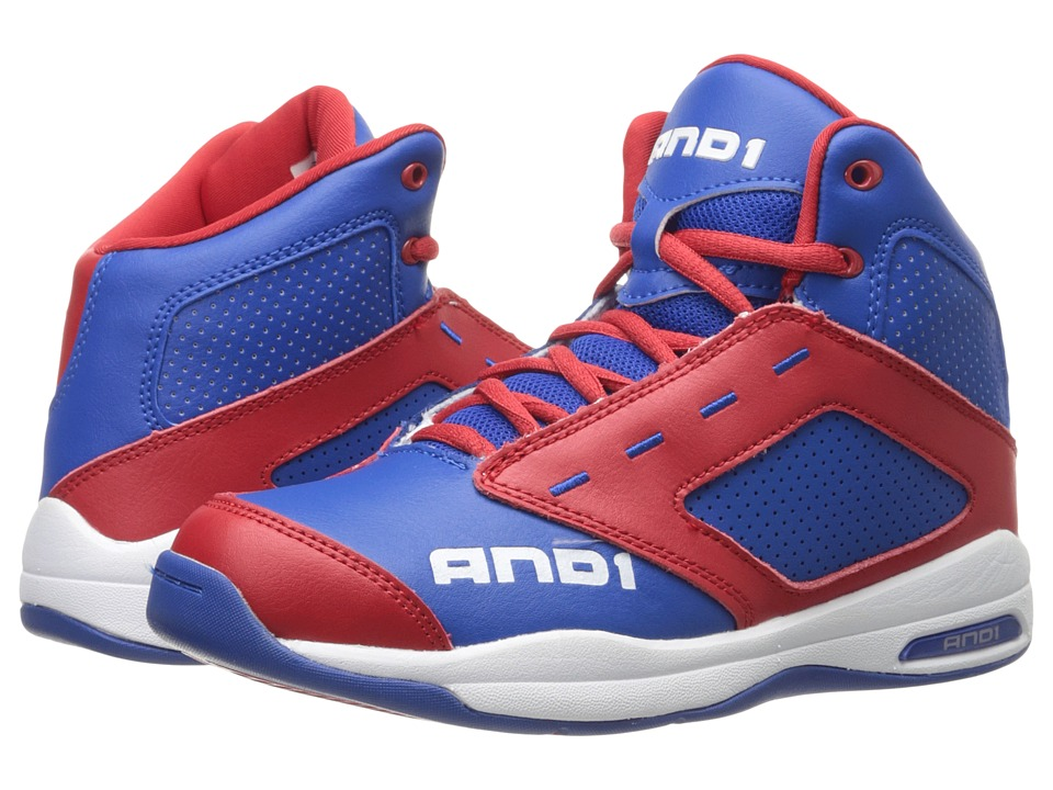 AND1 Kids Typhoon Little Kid/Big Kid Royal/Red/Bright White Boys Shoes