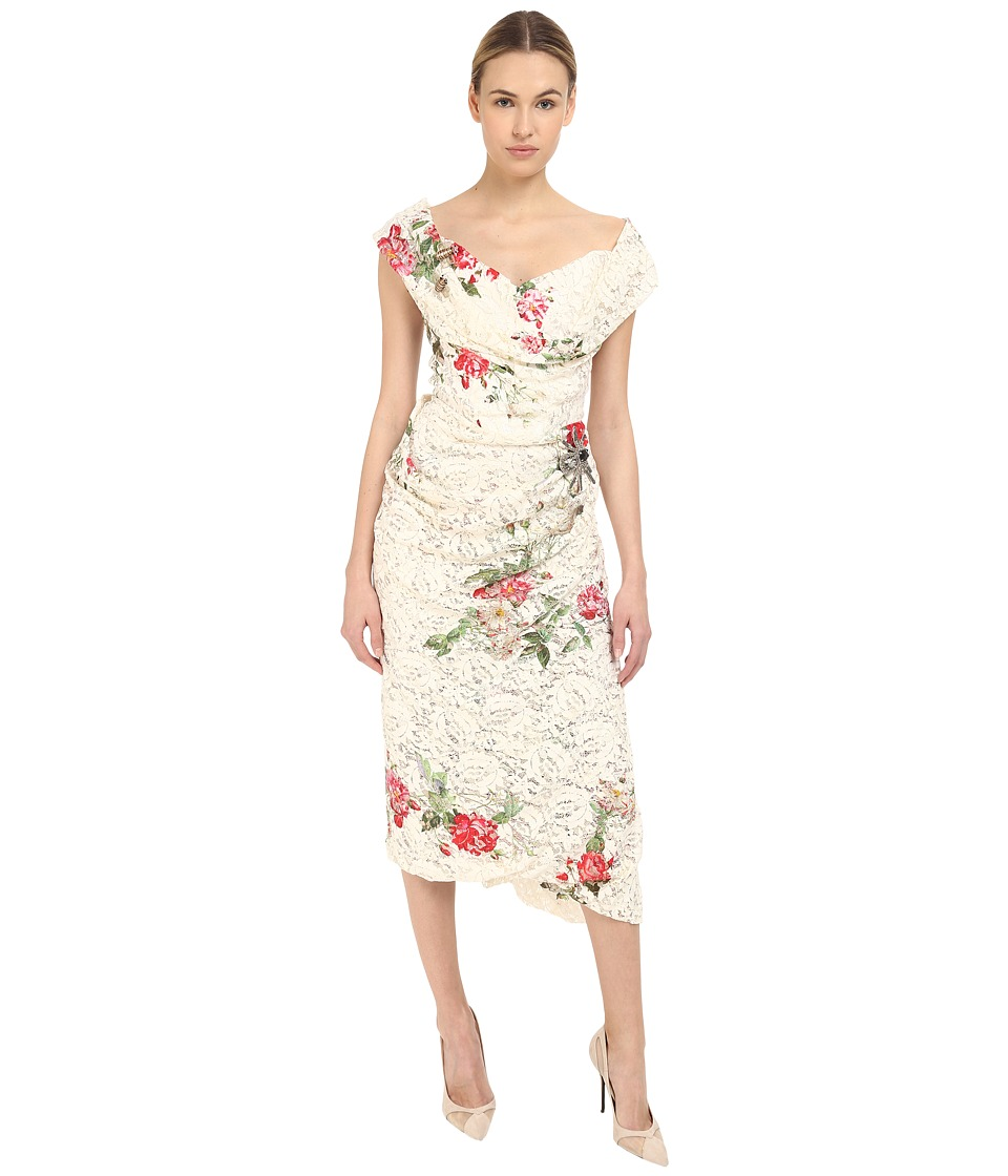 Vivienne Westwood Lotus Flower Lace Cocotte Red Carpet Dress Lace Womens Dress