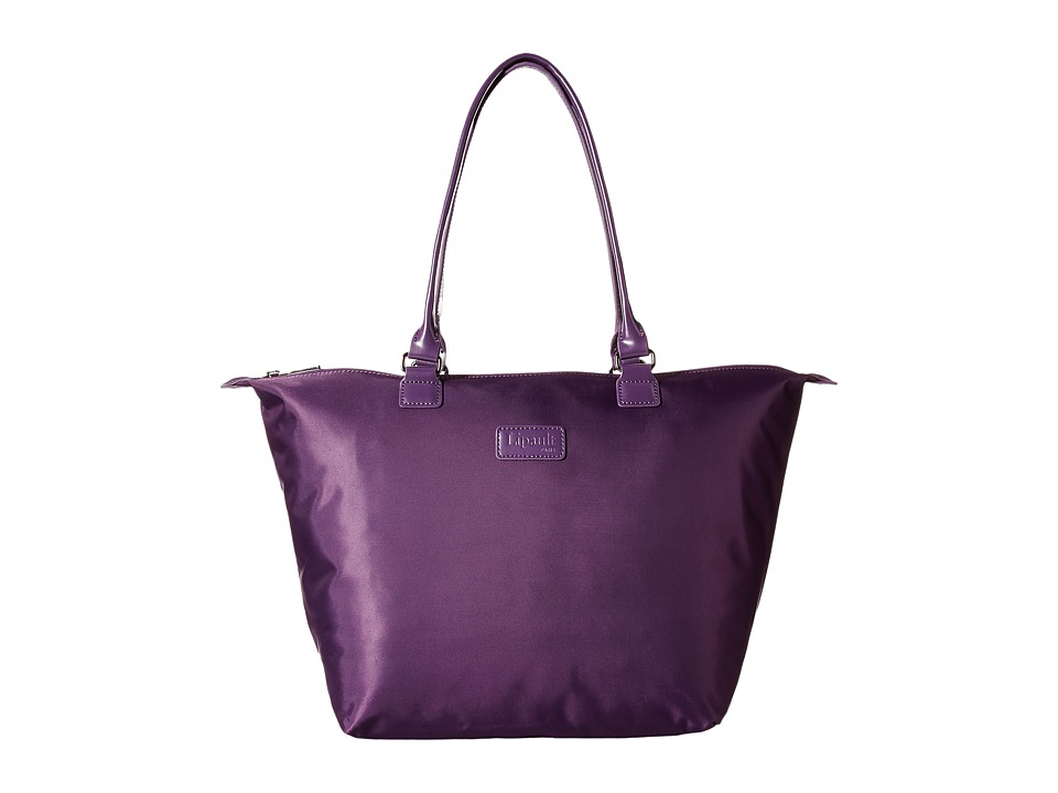 Lipault Paris - Shopping Tote (M) (Purple) Tote Handbags