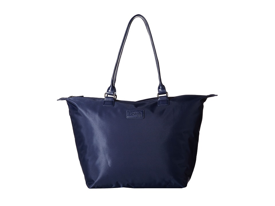 Lipault Paris Shopping Tote M Navy Tote Handbags