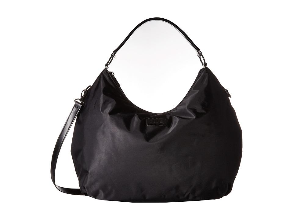 Lipault Paris - Hobo Bag (L) (Black) Hobo Handbags