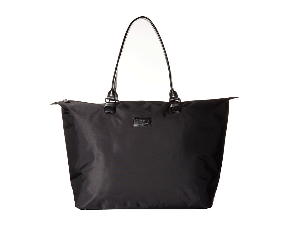 Lipault Paris Shopping Tote L Black Tote Handbags