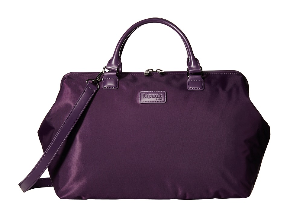 Lipault Paris Bowling Bag L Purple Duffel Bags