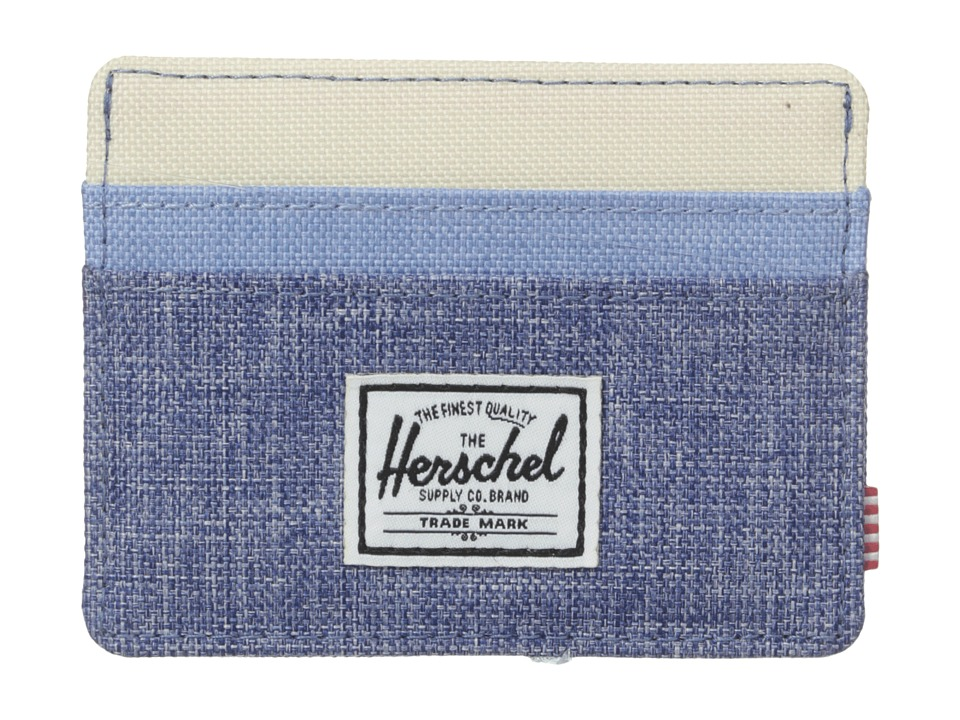 Herschel Supply Co. Charlie Limoges Crosshatch/Chambray Crosshatch/Natural Credit card Wallet