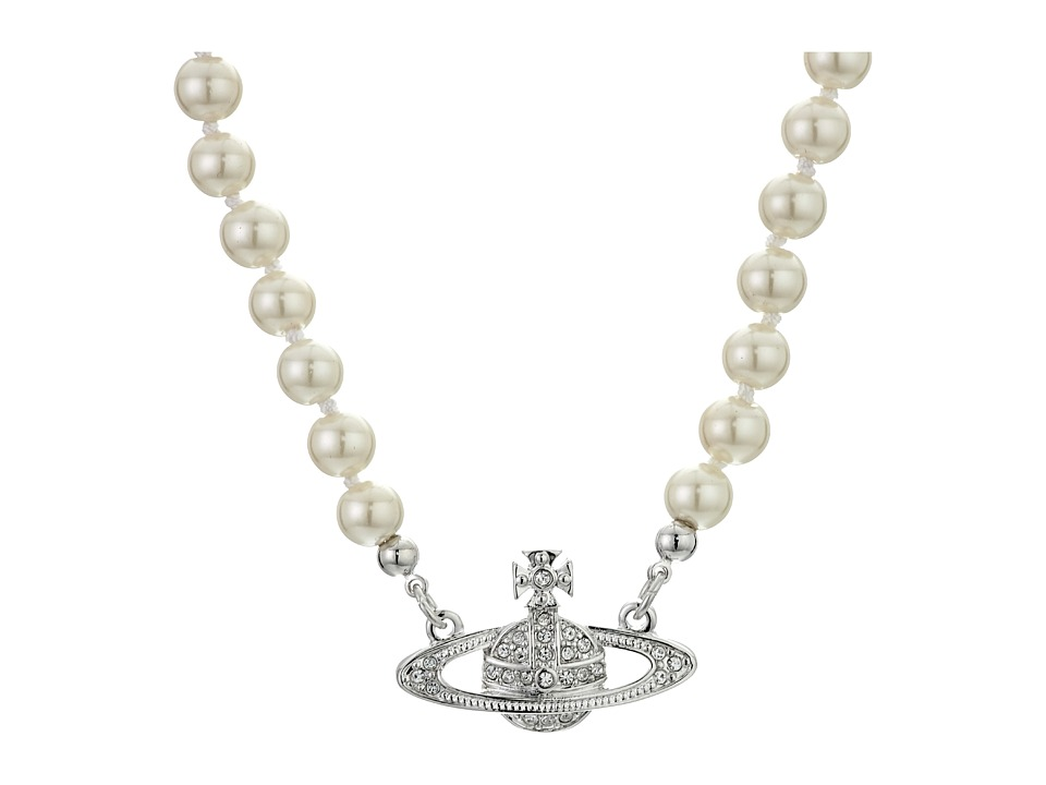 Vivienne Westwood - Mini Bas Relief Choker (Silver/Crystal) Necklace
