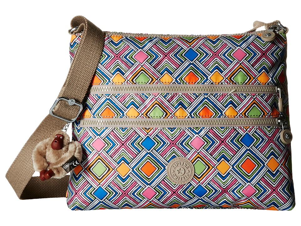 Kipling Alvar Printed Crossbody Bag Geometric Ember Cross Body Handbags