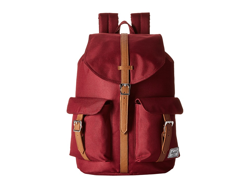 Herschel Supply Co. - Dawson (Windsor Wine/Tan Synthetic Leather) Bags