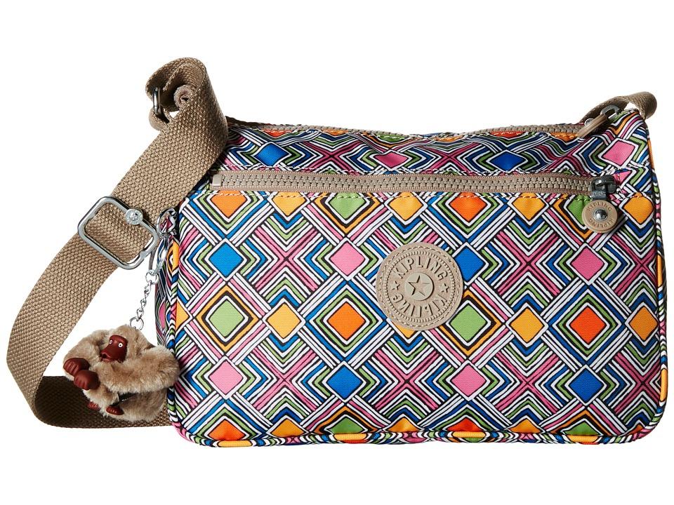 Kipling - Callie Printed Handbag (Geometric Ember) Handbags