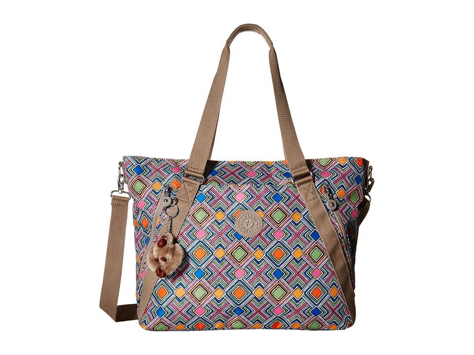 Kipling - Fleur Print (Geometric Ember) Handbags