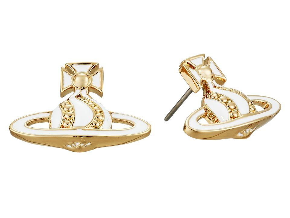 Vivienne Westwood Antoinette Bas Relief Earrings White Earring