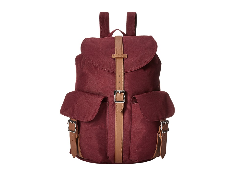 Herschel Supply Co. - Dawson (Windsor Wine/Tan Synthetic Leather) Backpack Bags