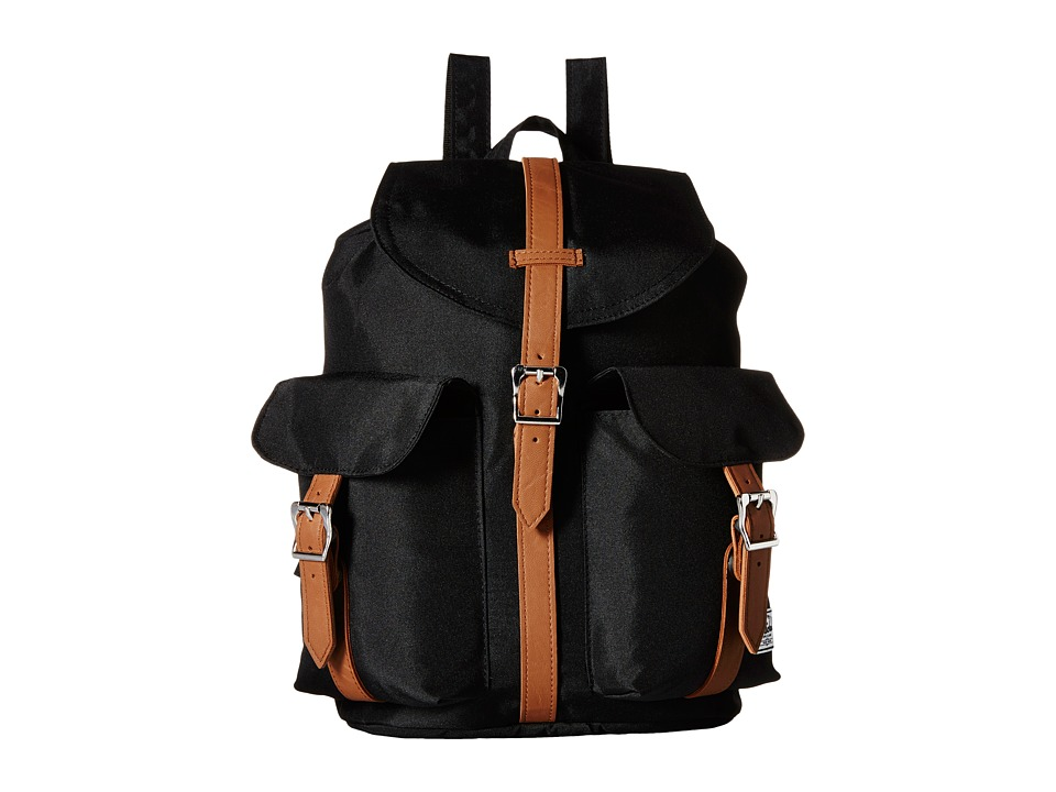 Herschel Supply Co. - Dawson (Black/Tan Synthetic Leather) Backpack Bags