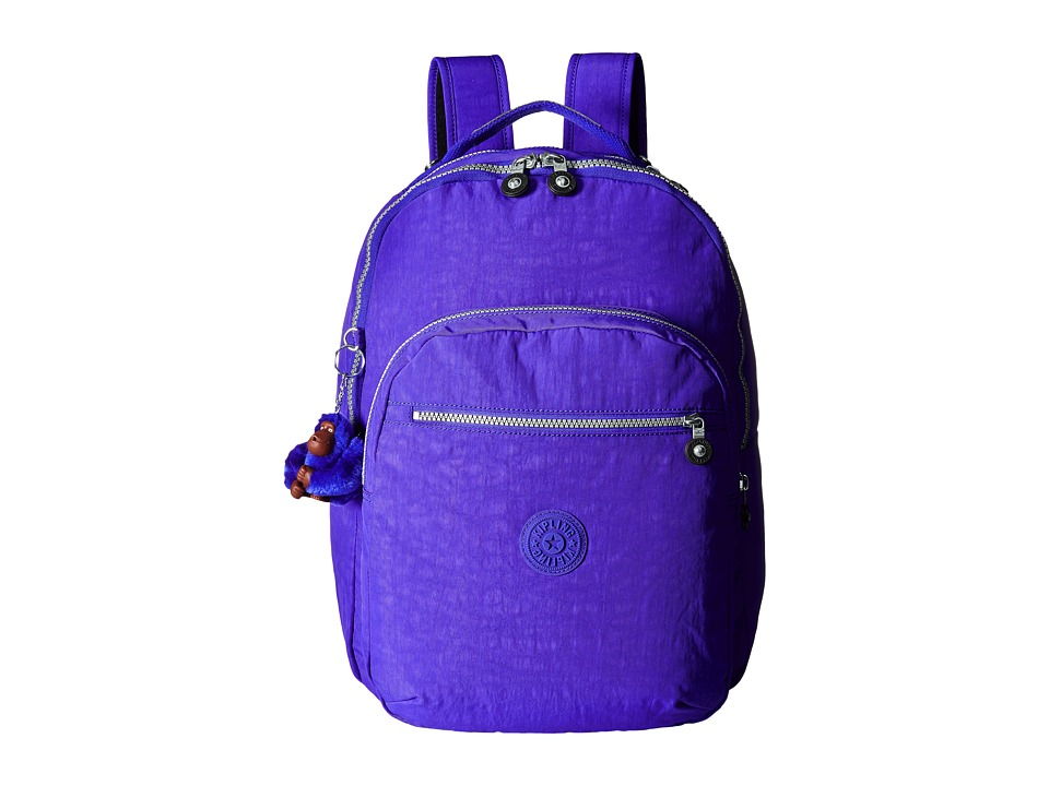 Kipling Seoul Backpack with Laptop Protection Octopus Purple Backpack Bags