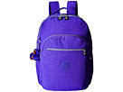 Kipling Seoul Backpack with Laptop Protection (Octopus Purple)
