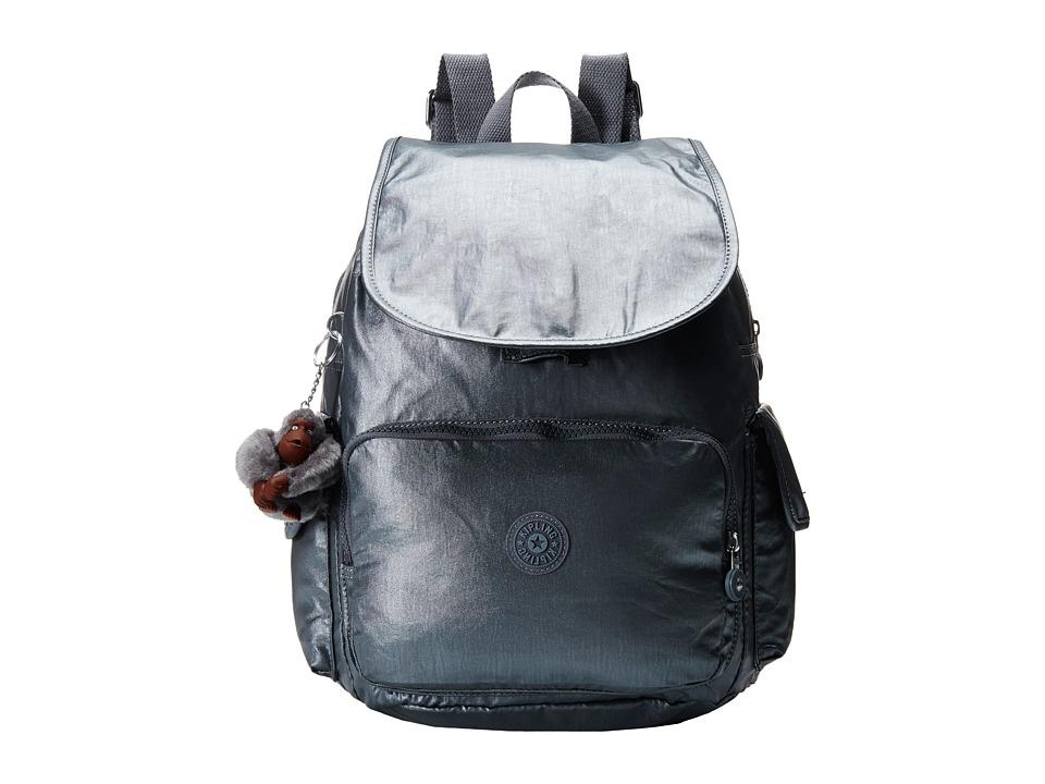 Kipling Ravier Backpack Steel Grey Metallic Backpack Bags