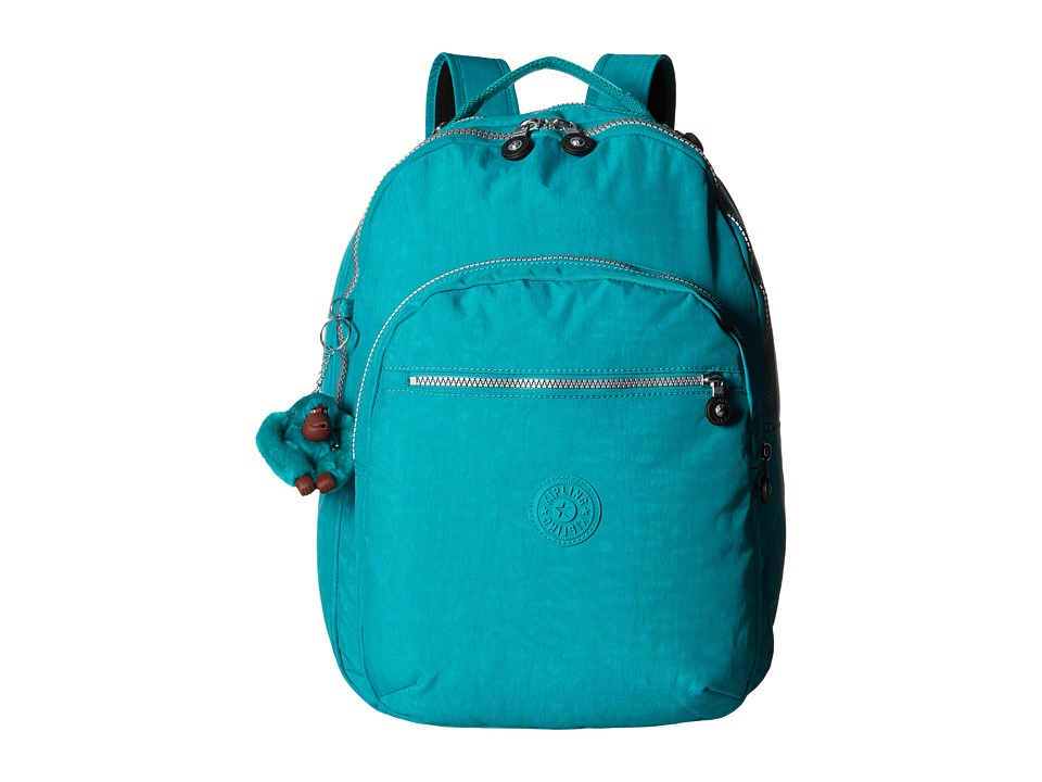 Kipling Seoul Backpack with Laptop Protection Brilliant Jade Backpack Bags